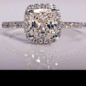 Women Bridal S925 silver cz diamond bridal Ring
